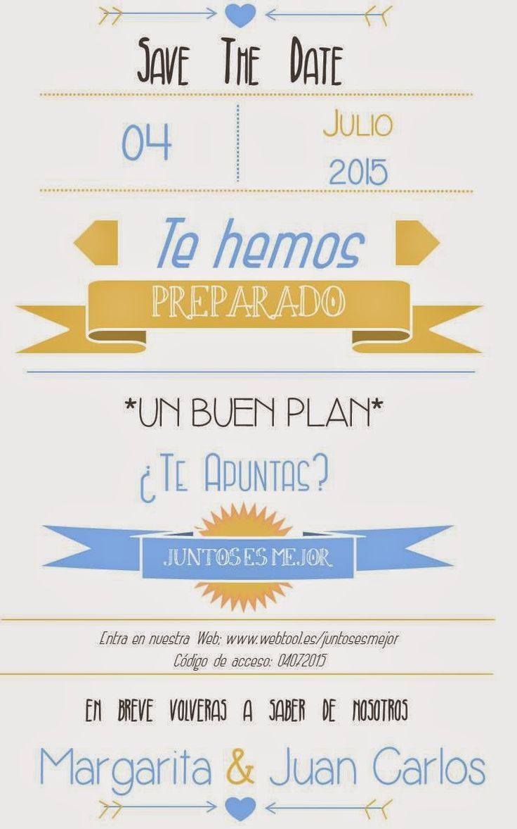 Yo dire que si: Pon un Save The Date en tu boda