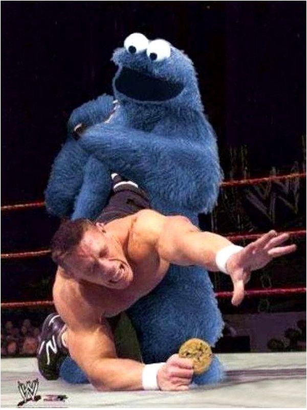 Cookie Monster и реслинг