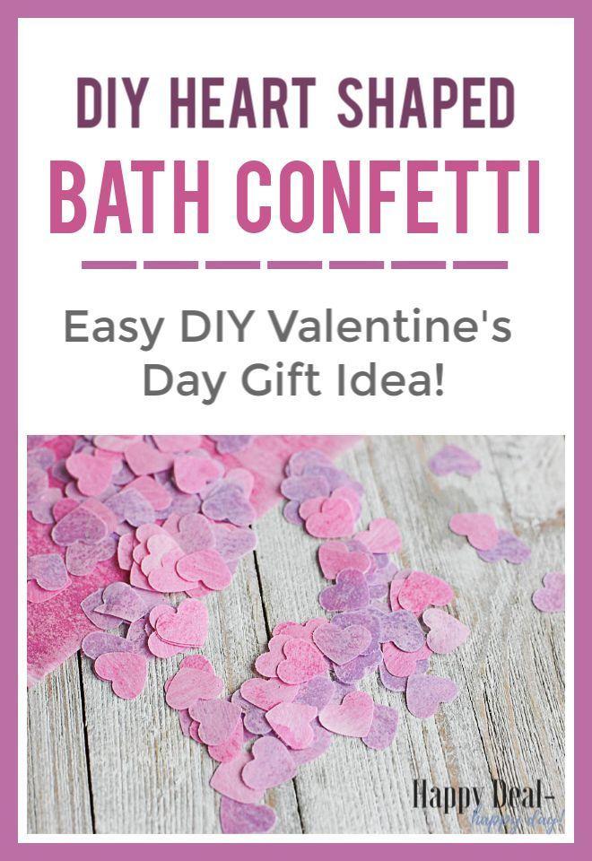 Heart Shaped DIY Bath Confetti with Essential Oils – Easy DIY Valentine's Day Gift Idea