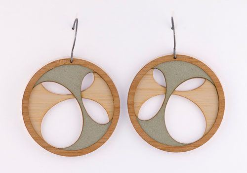 """Molly M Designscreate beautiful lasercutjewelry and drafted in AutoCAD. These lovely earrings come from the 'Layers"""" range."""