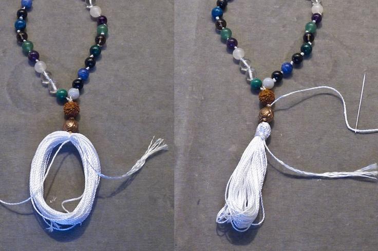DIY mala prayer bead necklace | Colorful Tales