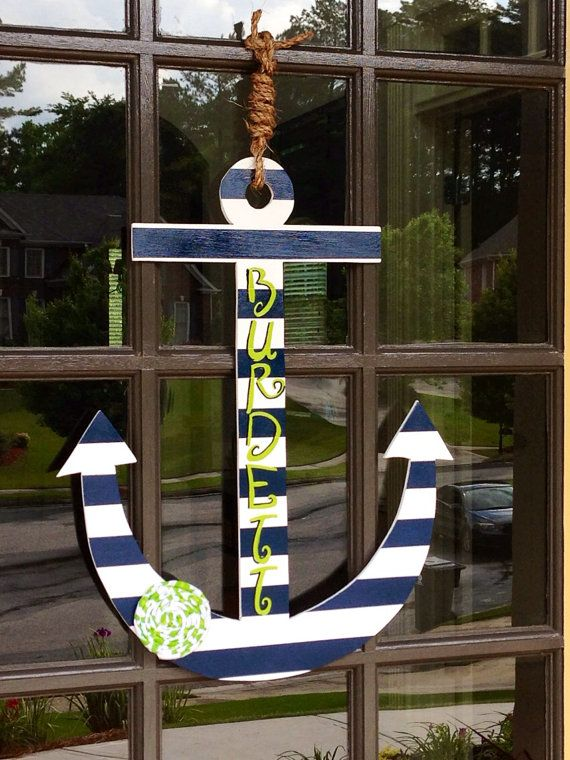 Front Door Summer Anchor Decoration - Hanger via Etsy
