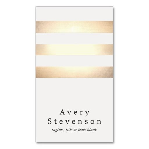 291 best spa business cards images on pinterest spa business cards cool faux gold foil and white striped modern business card reheart Choice Image