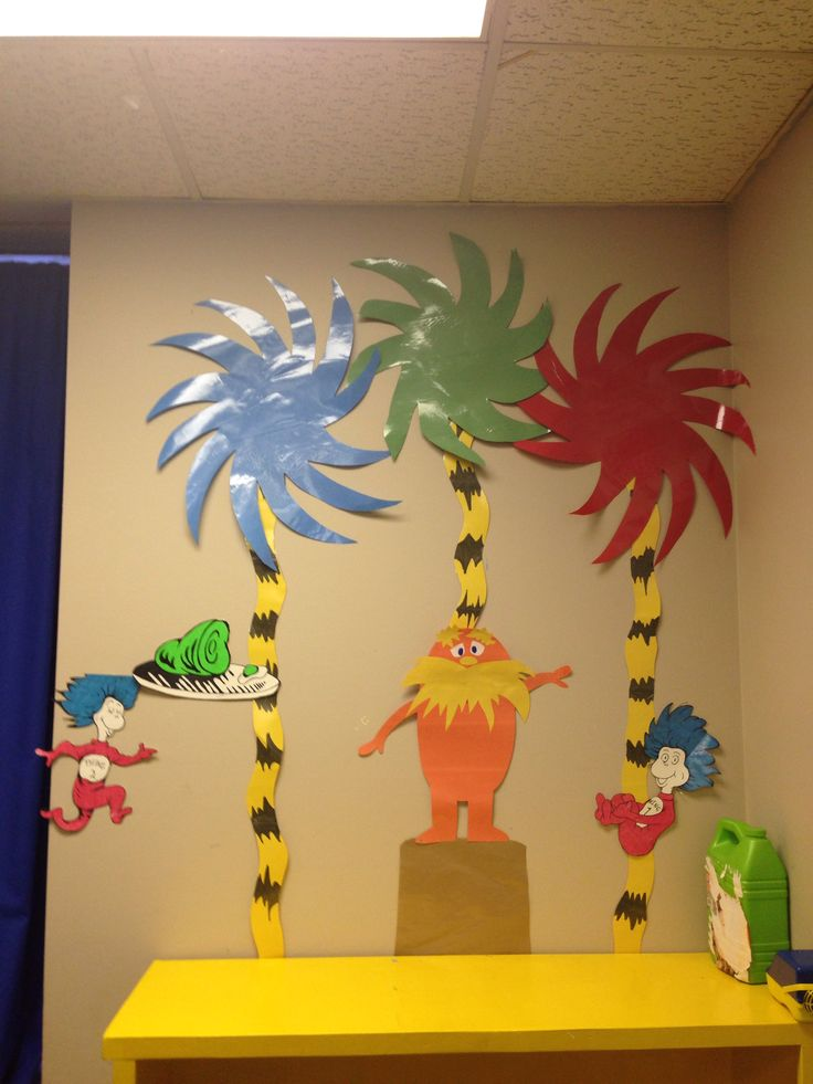 Dr. Suess classroom wall display bulletine board child care