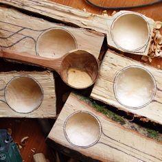 Tallado de cuchara de madera