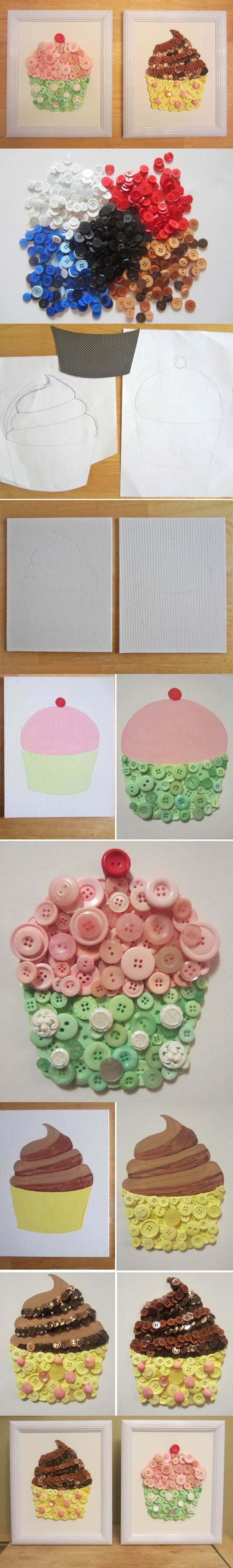 DIY Cupcake Button Crafts | iCreativeIdeas.com LIKE Us on Facebook ==> https://www.facebook.com/icreativeideas