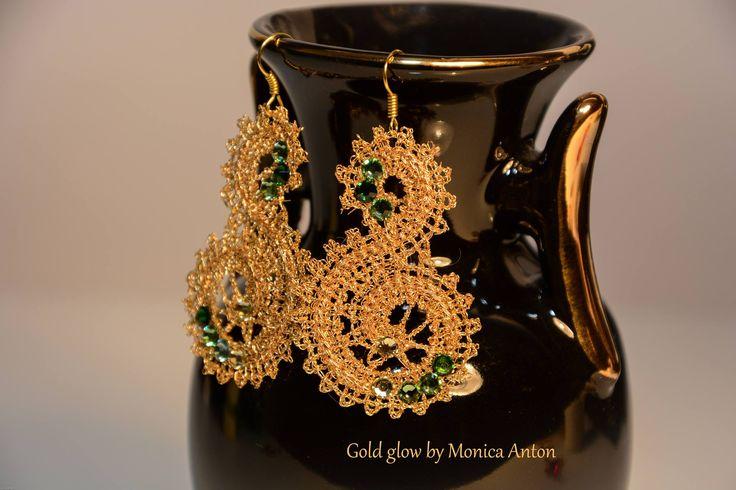 """Cercei """"Gold spliral"""" (28 LEI la monicaanton.breslo.ro)"""