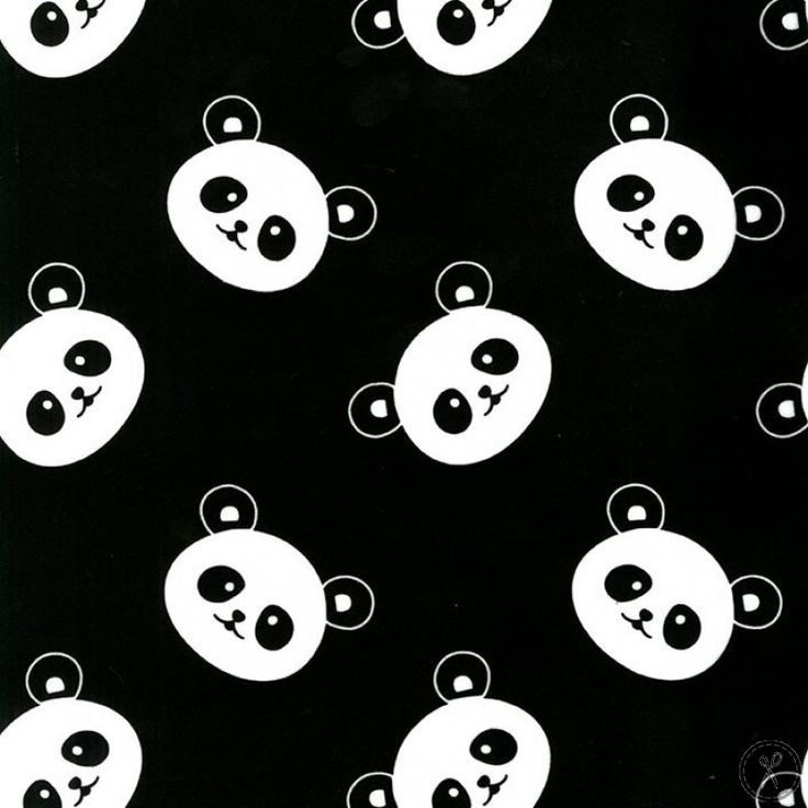 Panda Minky Fabric - Black