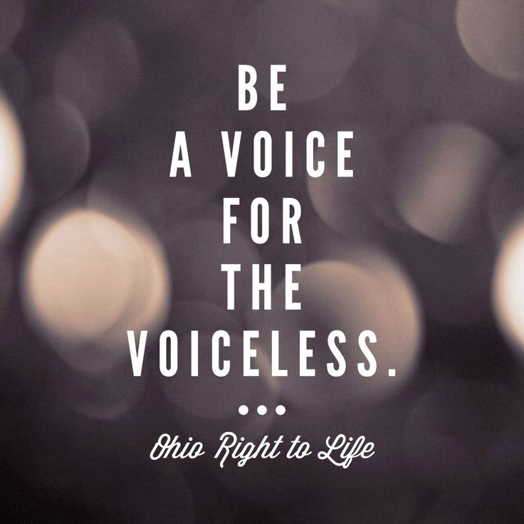 Be a voice for the voiceless TODAY. OhioLife.org. Elect pro-life candidates.