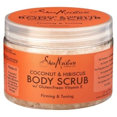 Shea Moisture Body Scrub - Coconut and Hibiscus (12 oz)...this stuff smells amazing omg love it! And did I mention all of the Shea moisture products are free of all the fake bad chems in all the other body products