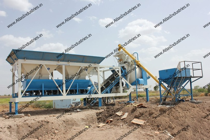 Mobile RMC plant with reversible drum mixer. Details: http://www.atlasindustries.in/concrete-batch-plant.html