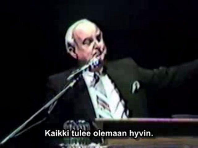 Veli Billy Paul Branhamin todistus Edmontonissa vuonna 1986. Suomenkielinen tekstitys.
