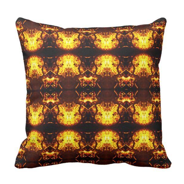 Amber Tree Throw Pillow