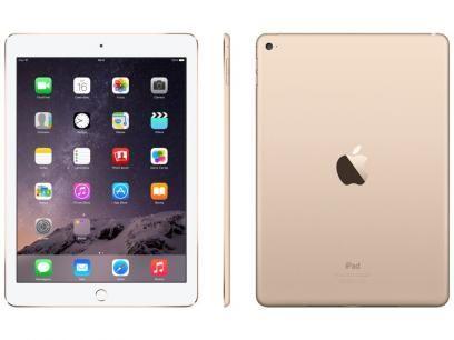"""iPad Air 2 Apple 16GB Dourado Tela 9,7"""" Retina - Processador M8 Câmera 8MP + Frontal com as melhores condições você encontra no Magazine Ciabella. Confira!"""