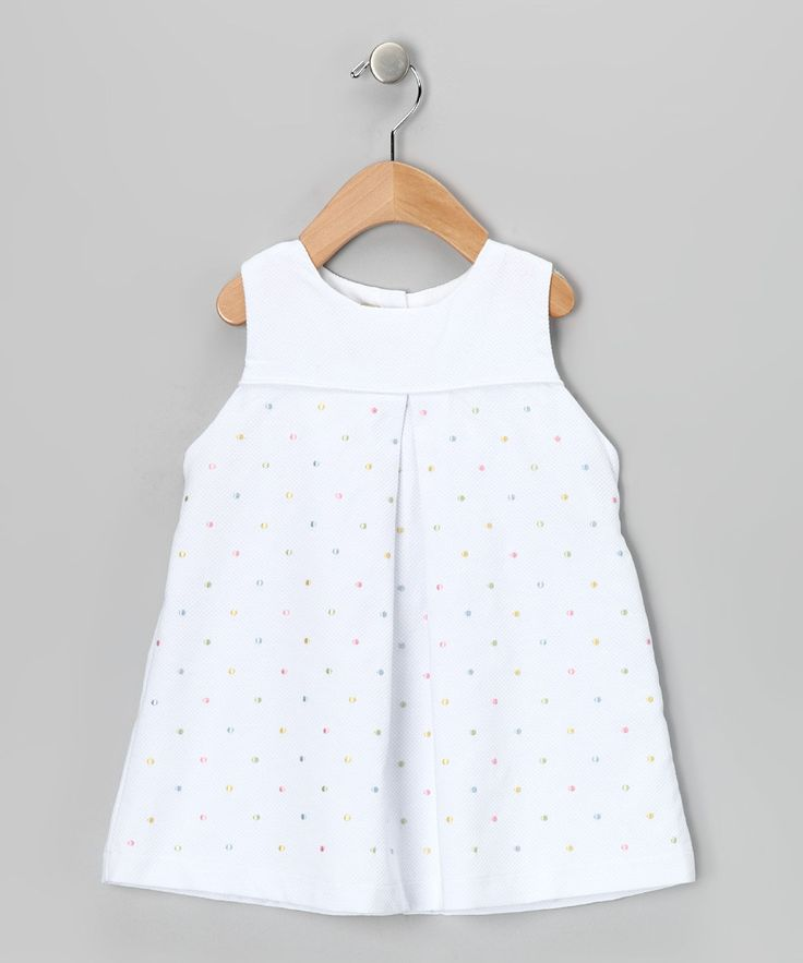 Take a look at this White & Yellow Polka Dot Dress - Infant & Toddler on zulily today!