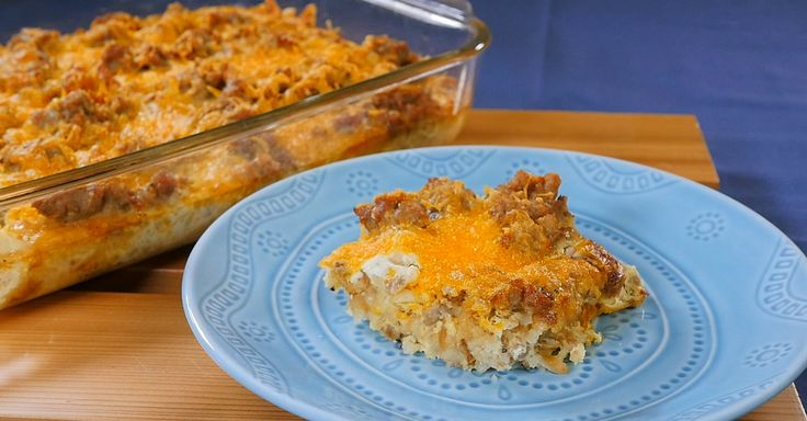 Start The Day Off Right With This Hash Brown-Filled Sausage Casserole