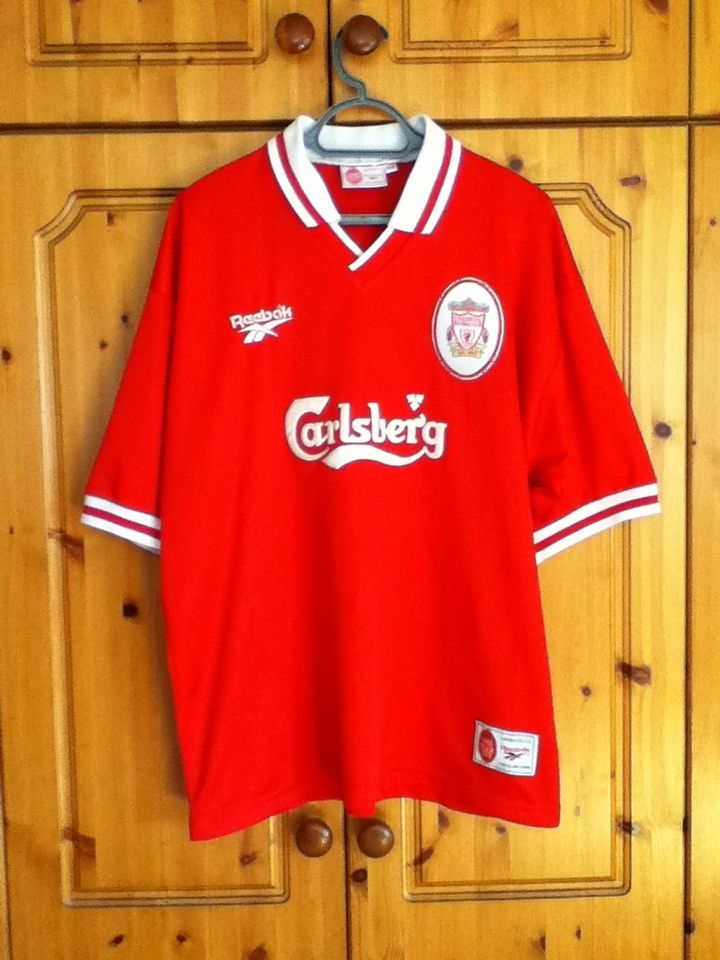 Liverpool Football Club Home Jersey 1996 - 1998 Extra Large Adult Reebok  3823ad746
