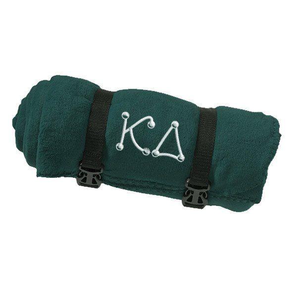Kappa Delta Fleece Blanket - Port and Company BP10 - EMB