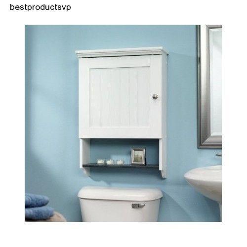 #Ebay #Wall #Mounted #Bathroom #Cabinet #White #Storage #Medicine #Organizer #Wood #Space #Saver  #Sauder
