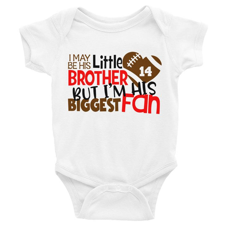 $16 Custom Football Shirt - Football Onesie - Girls His Little Brother Biggest Fan Shirt -  Custom Baby Onesie Outfit - Kids sports Shirt by BluMagnoliaCo on Etsy
