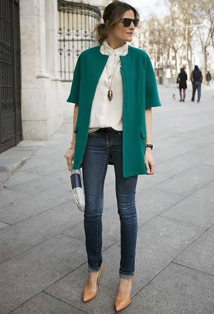 this emerald blazer adds a pop of color to this fall outfit y&i clothing boutique | shopyandi.com