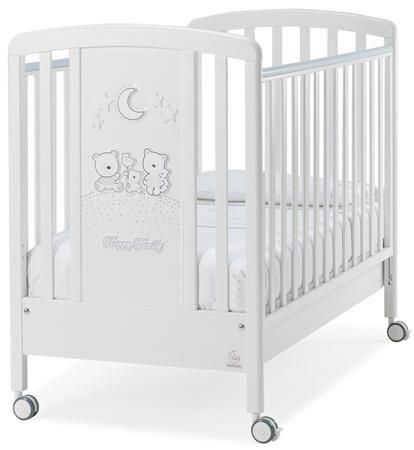 Italbaby Кровать Happy Family Strass белая со стразами  — 28290р.  Детская кровать HAPPY FAMILY белый