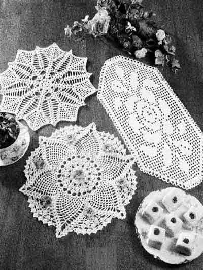 Crochet Doilies - Floral Doily Crochet Patterns - Dazzling Doilies...free patterns