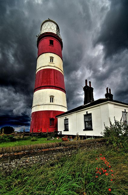 Happisburgh Lighthouse, East Anglia, Great Britian  Oldest lighthouse in East Anglia & only independent in the UK