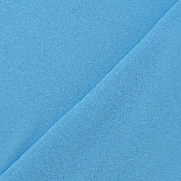 Tissu Mousseline cyan x 50 cm