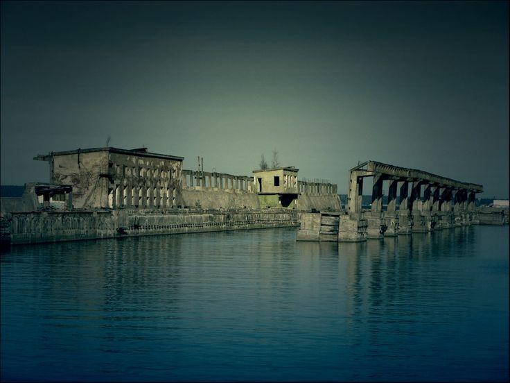 I Полигон Военно-Морского Флота ВМФ СССР. Стенд ИК-2М для магнитной обработки кораблей