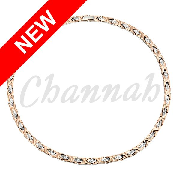 Channah Women 96pcs Crystals Magnetic Stainless Steel Necklace Rose Gold Free Shipping Charm Bio Jewelry 2017 Ladies