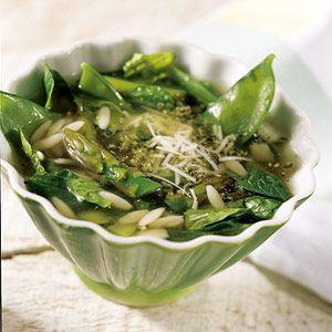 Asparagus-Orzo Soup