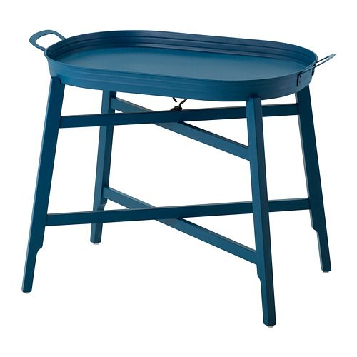Ikea Fridafors Tray Table Blue 70x45 Cm Is Ideal As A Small And Lightweight Coffee Flexible Side Next To The Sofa