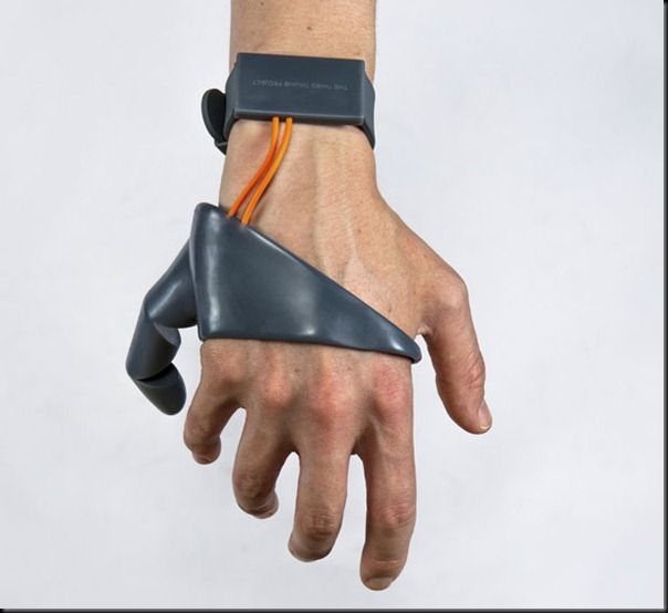 Future technology Concept of gadget that extends the capabilities of the human hand