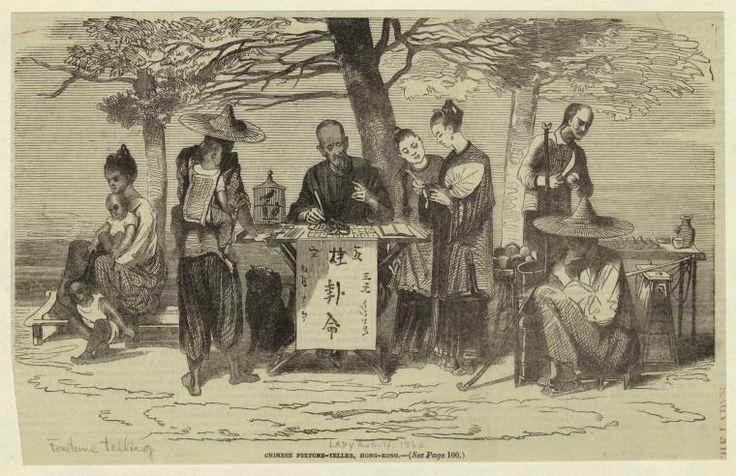 Chinese fortune teller, Hong-Kong 1862