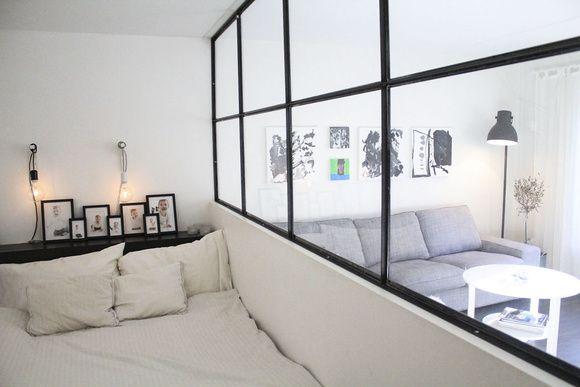 Efter skilsmässan omgrupperade jag till en lägenhet på 90 kvm. För att ge barnen ett varsitt sovrum gällde det att vara uppfinningsrik för att själv få ett sovrum.