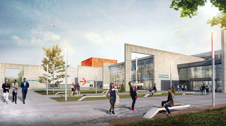 1. Mansiyon - Düzce Üniversitesi Konuralp Yerleşkesi Gelişim Planı Kentsel Tasarım Yarışması