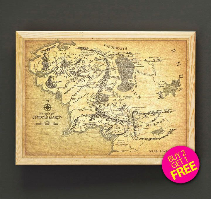 East Middle Earth Map%0A Lord of the Rings Print Middle Earth Map Poster Lord of the Rings Map Art  Print
