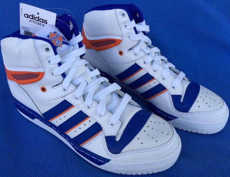 new Adidas Attitude HI NY Knicks D73897 Retro Ewing Basketball Shoes Men's 10 | eBay