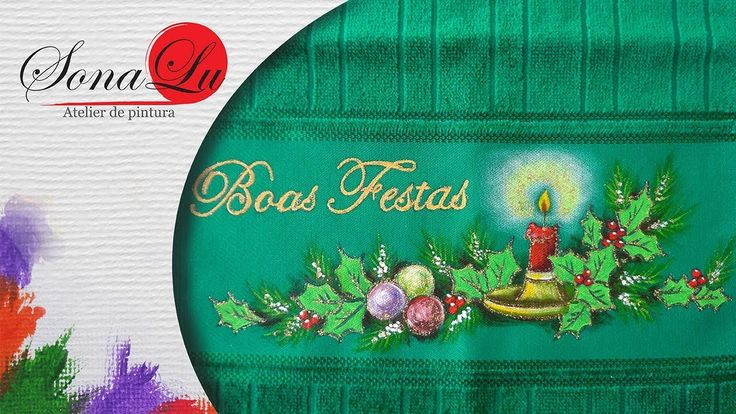 Boas Festas em Tecido Verde (Aula 154)