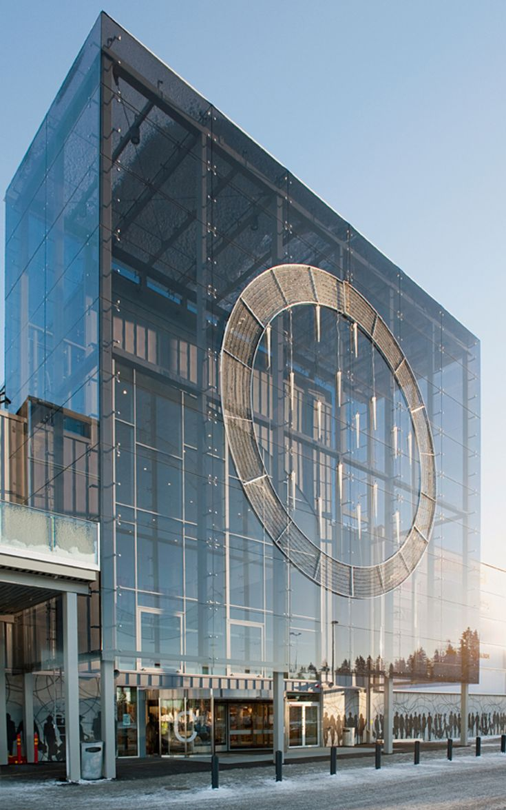 Matkus shopping center in Kuopio, Finland - the glass façade has been made of Pilkington Optilam™ laminated glass and Pilkington Optitherm™ S1N low emissivity glass. Such a combination provides safety and good thermal insulation.
