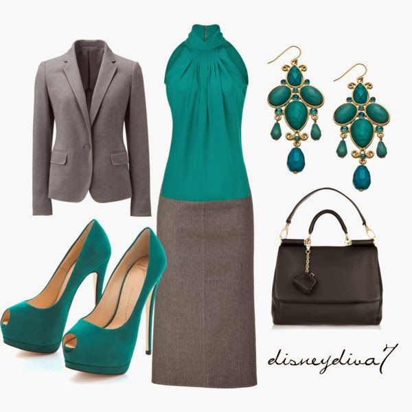 Work Outfit: Shoes, Colors Combos, Work Clothing, Style, Fashionista Trends, Teal, Outfits Ideas, Work Chic, Work Outfits