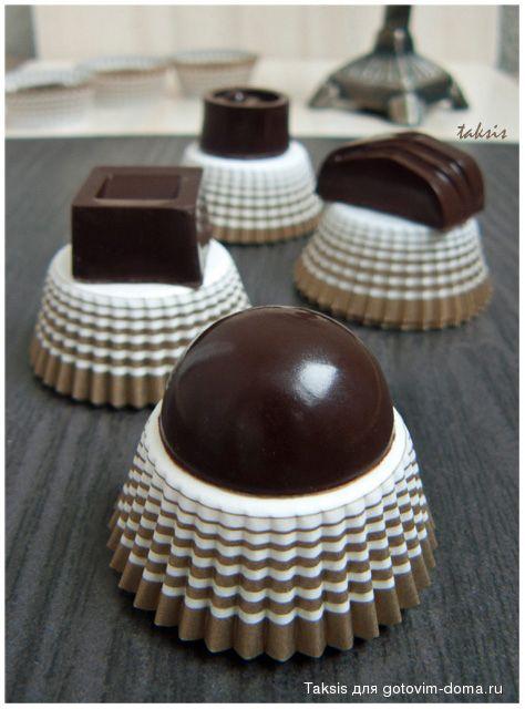Шоколадные конфеты с апельсиновыми цукатами
