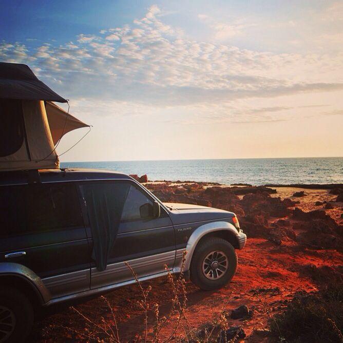 Home is where the heart is. #jamespricepoint #rooftoptent #roadtrip #travel #backpacking #wanderlust #westernaustralia #thisiswa #thekimberleyaustralia #discoveraustralia #picoftheday #sunset #camping