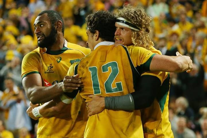 FT: Qantas Wallabies 50 - 23 Fédération Française de Rugby (FFR) - The #Wallabies have opened their 2014 Test season in style, scoring seven tries in a dominant display against France. It was an entertaining display of running #Rugby for the fans at Suncorp Stadium as the #MenInGold scored the most tries on home soil since 2010!