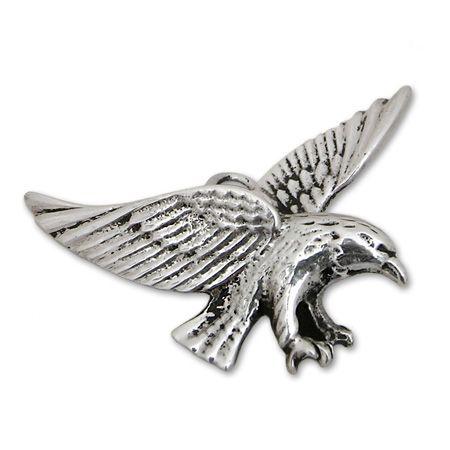 ciondolo artigianato nativi d america argento forma aquila ANAP140_G