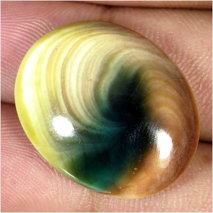 Huge 29.75ct Oval Cabochon Cut Natural Shiva Eye Holy Gomti Chakra Lovely