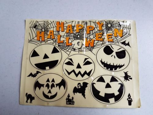 Vintage Cereal Box Premium Halloween Decals Stickers Clear Glow in the Dark