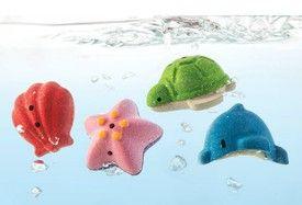 Badleksak - Havsdjur - Ekologisk, 4 st olika
