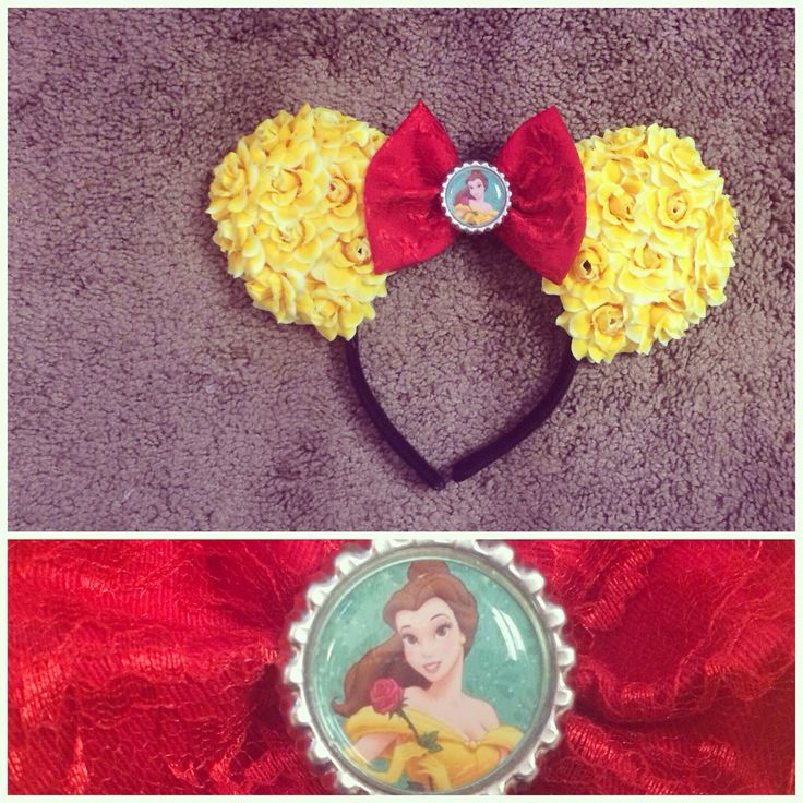 Belle ears Mickey ears custom ears